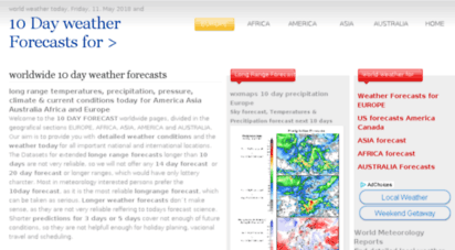 Welcome To 10 Day Forecastcom 10 Day Forecasts For Europe America