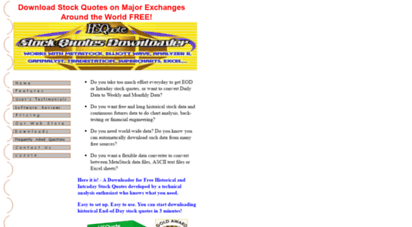 Historical Stock Quotes | Welcome To 1free Historical Stock Quotes Downloader Com 1