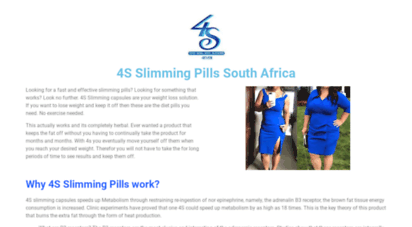 Welcome To 4sslimmingpills Co Za 4s Slimming Products The No 1