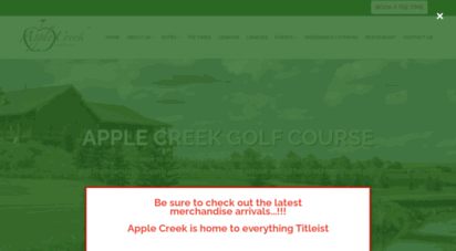 applecreekgolfcourse.com