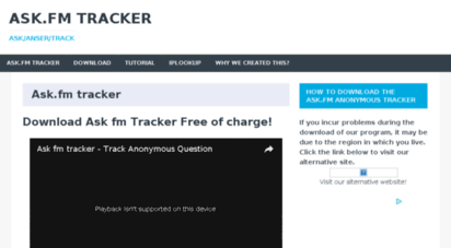ask fm tracker download free