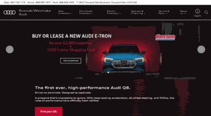 Welcome To Audiwestlakerusnakonlinecom Rusnak Westlake Audi - Rusnak westlake audi