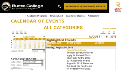 butte college academic calendar