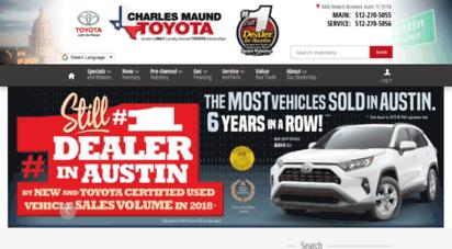 Charlesmaundtoyota.com. Description: Charles Maund Toyota.