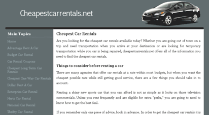 cheapestcarrentals.net