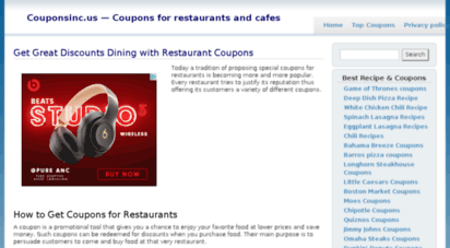 description coupons inc get your discount and save money on httpcouponsincus