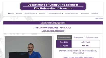 cs.scranton.edu