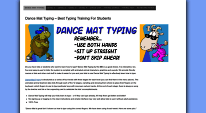 Welcome To Dancemattypingguide Com Dance Mat Typing Bbc Typing