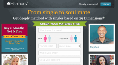 Free eharmony dating site