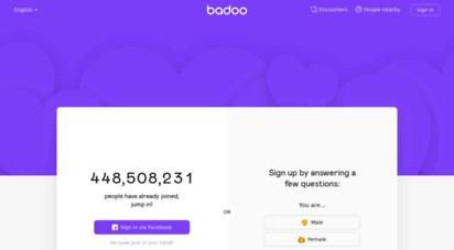 Com sign badoo up www Badoo Sign