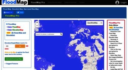 Water Elevation Map.Welcome To Floodmap Net Flood Map Water Level Elevation Map