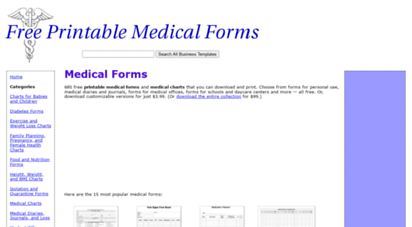 image about Free Medical Forms.com named Welcome toward - Clinical Varieties