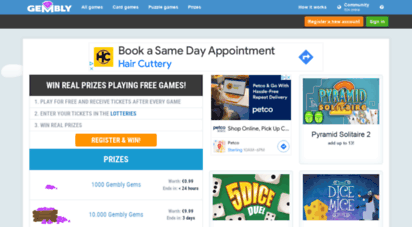 Play free online games earn prizes