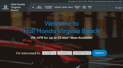 Description: Hall Honda. Hall Honda Virginia Beach Is Proud To Offer A Wide  Selection Of New And Pre Owned Honda Cars To Our Car Buying Customers In.