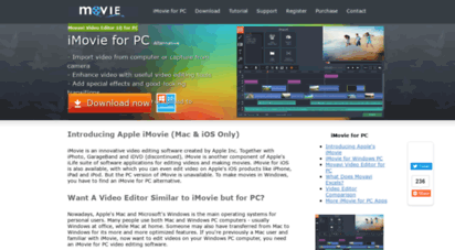 can you download imovie on windows