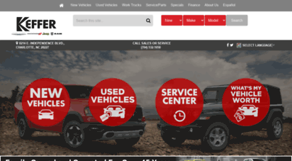 Description: Keffer Jeep. Make A Trip To Keffer Chrysler Jeep Dodge And Ram  Trucks In Charlotte, North Carolina For A Great Deal On A New Car, Truck Or  SUV, ...