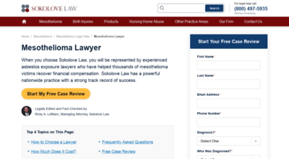 Welcome To Lawyer Mesothelioma Com Mesothelioma Lawyer Find A Top Rated Asbestos Attorney
