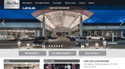 Lexusgrapevine.parkplace.com. Description: Lexus Grapevine ...