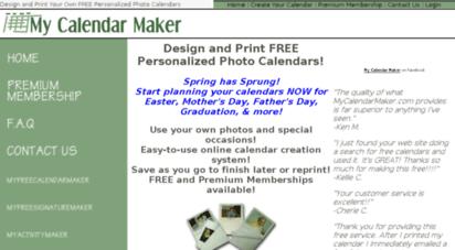 Mycalendarmaker Description My Calendar Maker