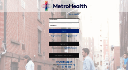 Welcome to mychart metrohealth org mychart application error page