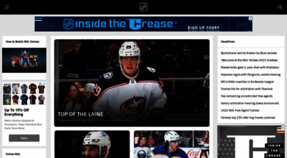 Welcome To Nhl Com Official Site Of The National Hockey League