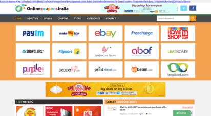 Welcome To Onlinecouponsindia Com Online Coupons India Discount Coupons Coupons Codes Promo Codes Shopping Vou