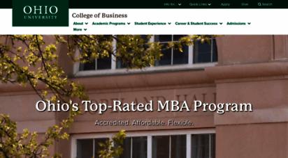 ohio university online mba program