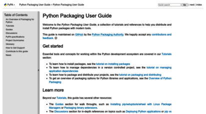 welcome to packaging python org python packaging user guide rh data danetsoft com python user guide download python packaging user guide