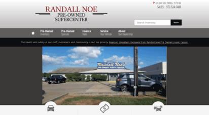 Randall Noe Used Cars In Terrell Texas >> Welcome To Randallnoeusedcars Com Pre Owned Cars Randall Noe