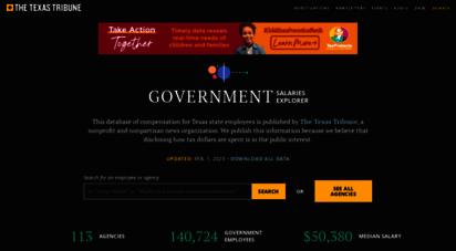 Welcome To Salaries Texastribune Org Government Salaries Explorer
