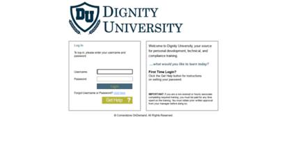 dignity university sci login