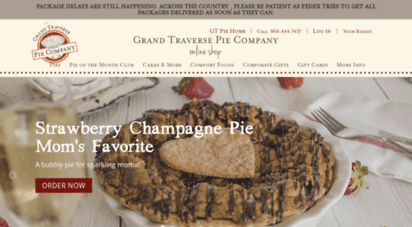 Description: Shop Gt Pie. At the Grand Traverse Pie Company we use only the finest Montmorency cherries for our cherry pies...and why not?