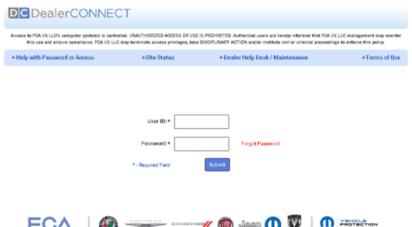 Chrysler Dealer Connect >> Welcome To Spsdc Chrysler Com Dealerconnect Login