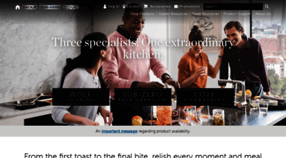 Welcome to subzero wolf discover our legendary appliances