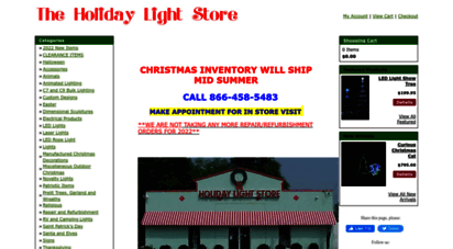 Theholidaylightstore.com. Description: Theholiday Light Store.