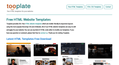 Welcome to tooplate free html css website templates html css website templates are 100 free for you to download and use for both commercial or non commercial websites maxwellsz