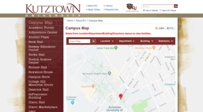 Welcome to Tour.kutztown.edu - Campus Map - Kutztown University