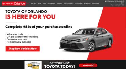 Toyotaoforlando.com. Description: Toyota Of Orlando.