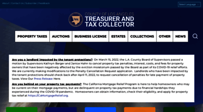 los angeles county treasurer and tax collector