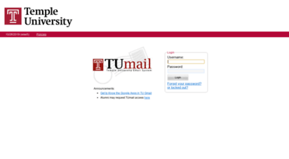 tumail login