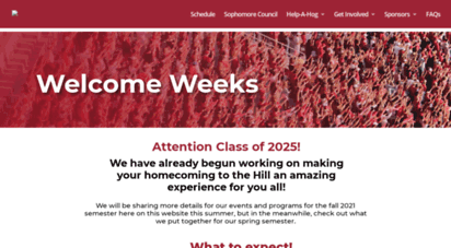 welcomeweeks.uark.edu