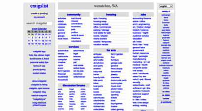 Welcome To Wenatchee Craigslist Org Craigslist Wenatchee Wa Jobs
