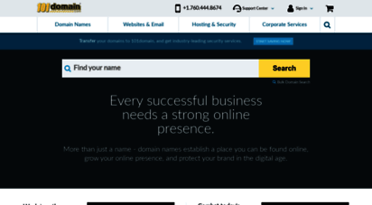 101domain.com - 101domain - domain names - website services - brand and corporate solutions - domain management & security