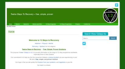 12steps.nz - 12 twelve steps to recovery - free, simple and proven
