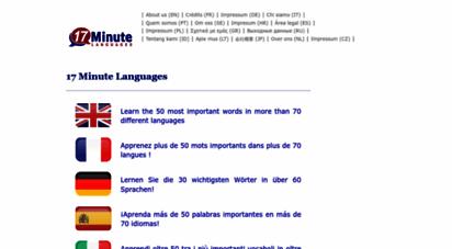 17-minute-world-languages.com - 17 minute languages