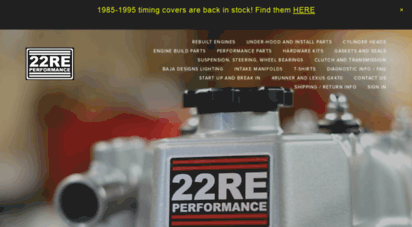 Welcome to 22reperformance com - 22RE Performance