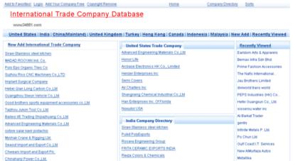 34551.com - international trade company database