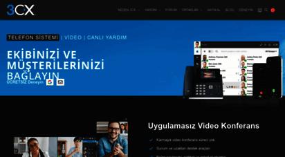 3cx.com.tr - yerinde veya buluttaki tümleşik iletişim çözümü 3cx ip santrali