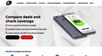 4g.co.uk - 4g  coverage, what is 4g, compare deals and more