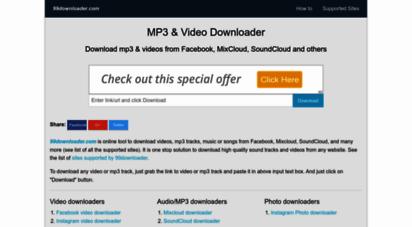 99downloader.com - download from facebook, twitter, instagram, mixcloud & many more